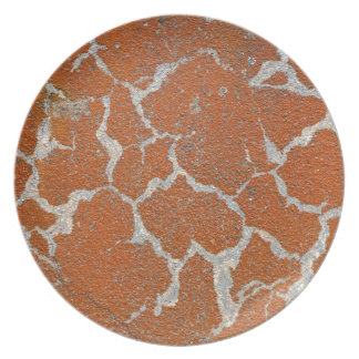 Old russet color on concrete party plate