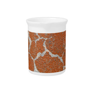 Old russet color on concrete pitcher