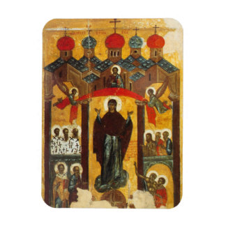 Old Russian icon The Intercession Rectangular Photo Magnet