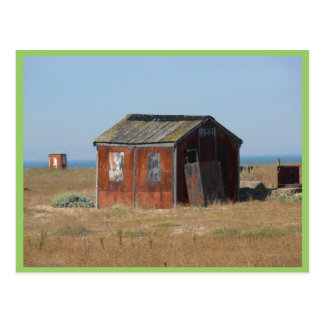Old Rusted Shack Hut Cabinet Postcard