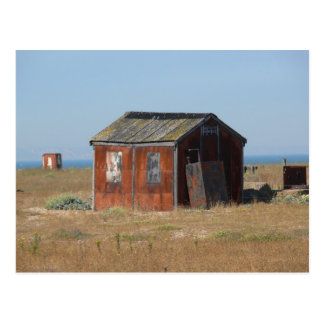 Old Rusted Shack Hut Cabinet Post Card