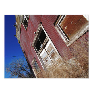 Old Rusted Tin Building Photo Print