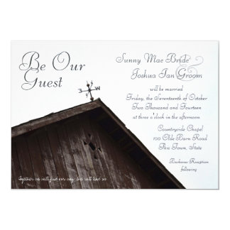 "Old Rustic Barn Weathervane 5"" X 7"" Invitation Card"