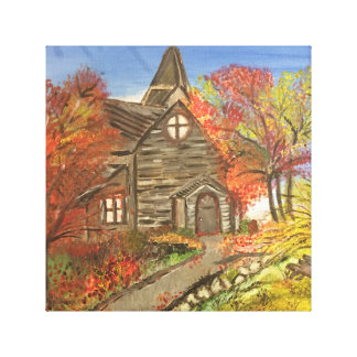 Old Rustic Church canvas painting