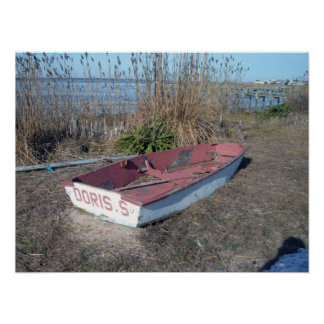 Old Rustic Row Boat Poster