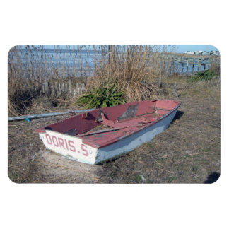 Old Rustic Row Boat Flexible Magnet