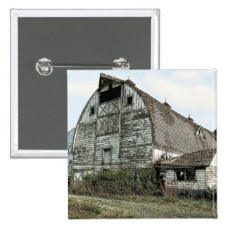 Old Rustic Shack Barn Pinback Button