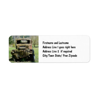 Old Rusty Farm Truck in the Country Return Address Label