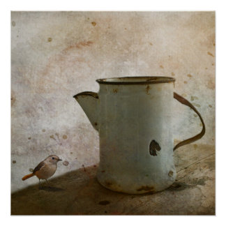 old Rusty Milk Pitcher Poster
