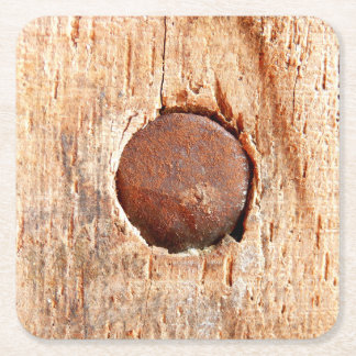 Old Rusty Nail Custom Square Coaster