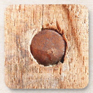 Old Rusty Nail Hard Plastic Coasters