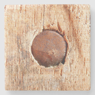 Old Rusty Nail Marble Stone Coaster