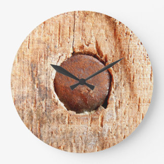 Old Rusty Nail Wall Clock