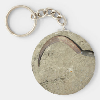 Old rusty sickle key ring