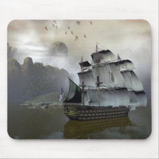 Old Sail Ship Mouse Pad