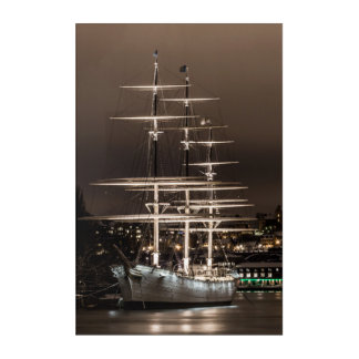 Old sailing ship acrylic print