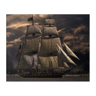 Old sailing ship acrylic wall art