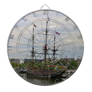 Old sailing ship, Amsterdam, Holland Dartboard