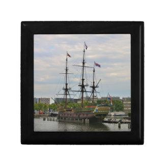 Old sailing ship, Amsterdam, Holland Gift Box