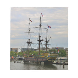 Old sailing ship, Amsterdam, Holland Notepad