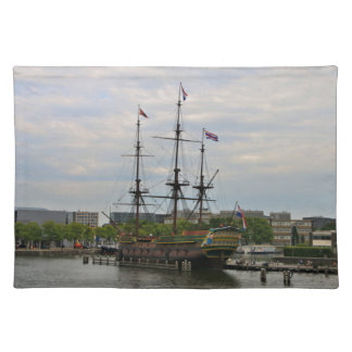 Old sailing ship, Amsterdam, Holland Placemat