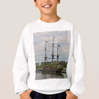 Old sailing ship, Amsterdam, Holland Sweatshirt