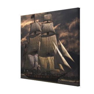 Old sailing ship canvas print