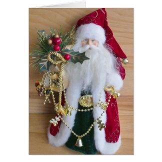 Old Saint Nick Merry Christmas Greeting Card