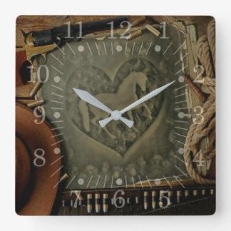 Old Saloon Square Wall Clock