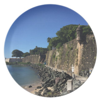 Old San Juan Historical Site Party Plate