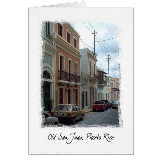 Old San Juan, Puerto Rico Card