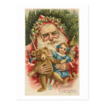Old Santa and Toys Post Card