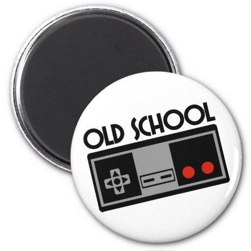 Old School 6 Cm Round Magnet