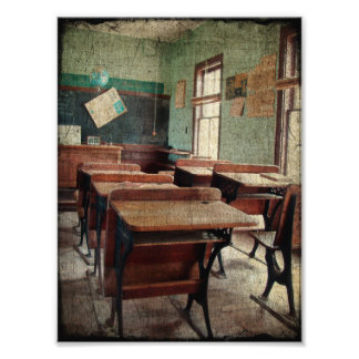 Old School, A One Room School Inside View Photograph