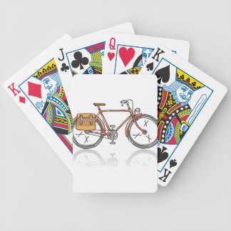Old School Bicycle Sketch Bicycle Playing Cards