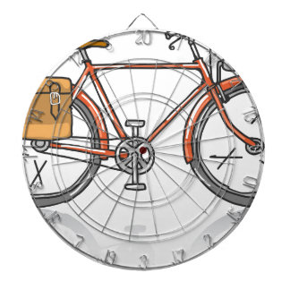 Old School Bicycle Sketch Dartboards