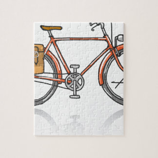 Old School Bicycle Sketch Jigsaw Puzzle