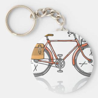 Old School Bicycle Sketch Key Ring