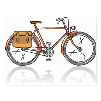 Old School Bicycle Sketch Postcard