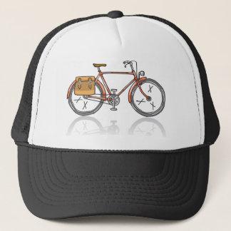 Old School Bicycle Sketch Trucker Hat