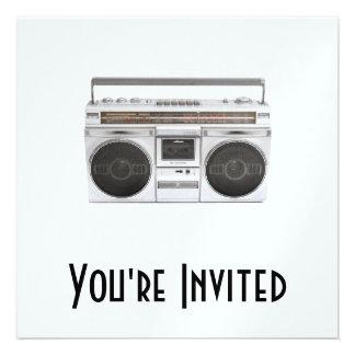 Old School Boombox Radio Custom Invite
