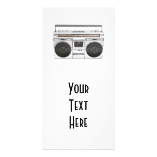Old School Boombox Radio Photo Greeting Card