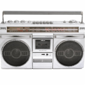 Old School Boombox Radio Standing Photo Sculpture