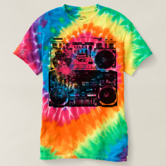 Old School Boombox Tie Dye Shirt