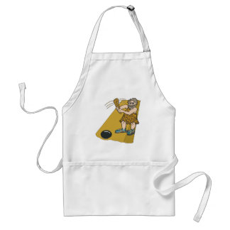 Old School Bowling Adult Apron