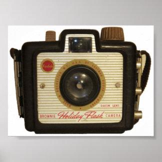 Old school Brownie camera Poster