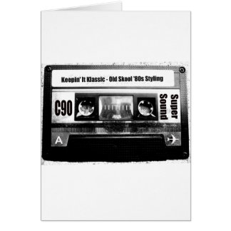 Old School Cassette Greeting Card