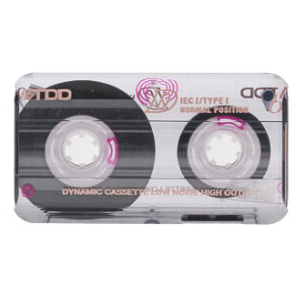 Old school cassette tape barely there iPod cases