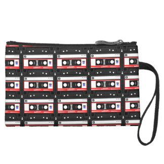 Old school cassette Tape Suede Wristlet