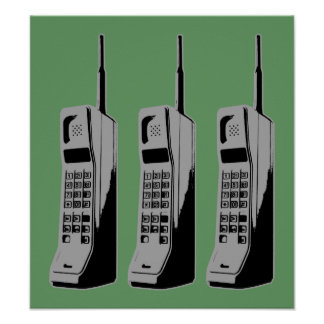 Old School Cell Phones Posters